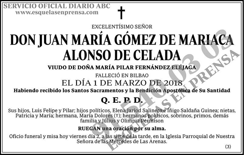 Juan María Gómez de Mariaca Alonso de Celada